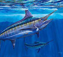 Blue Marlin Bite by Carey Chen