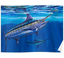 Blue Marlin Bite Poster