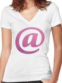 Nethack Tourist Women's Fitted V-Neck T-Shirt