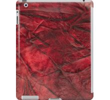 Red leather texture closeup iPad Case/Skin