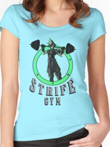 Strife's Gym! - Final Fantasy Women's Fitted Scoop T-Shirt