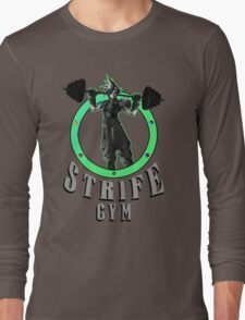 Strife's Gym! - Final Fantasy Long Sleeve T-Shirt