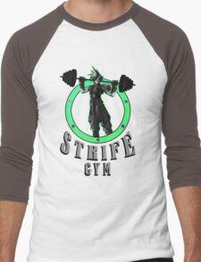 Strife's Gym! - Final Fantasy Men's Baseball ¾ T-Shirt