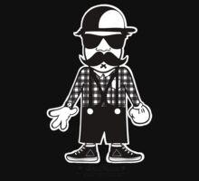 DA HIPSTA WHITE & BLACK One Piece - Short Sleeve