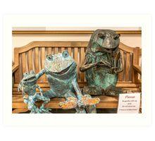 Frog Family Art Print