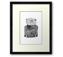 Bear Illustration  Framed Print