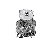 Bear Illustration  Photographic Print