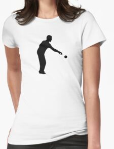 Petanque boccia player Womens Fitted T-Shirt