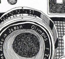 Old style camera - polaroid  Sticker
