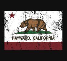 Hayward California Republic Flag Distressed T-Shirt