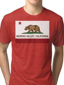 Moreno Valley California Republic Flag Tri-blend T-Shirt
