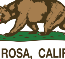 Santa Rosa California Republic Flag Sticker