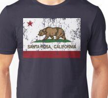 Santa Rosa California Republic Flag Distressed Unisex T-Shirt
