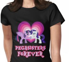 Pegasisters Forever 12 Womens Fitted T-Shirt