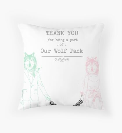 The Wedding Wolf Pack Throw Pillow