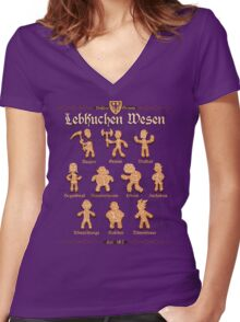 Grimm Gingerbread Women's Fitted V-Neck T-Shirt