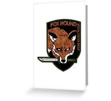 Fox Hound logo 2.0  Greeting Card