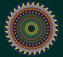 Trippy Ethnic Circular Design by dukepope
