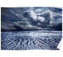 Storm seascape Poster