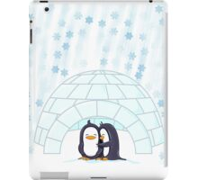 Penguins In Igloo While Snowing Art iPad Case/Skin