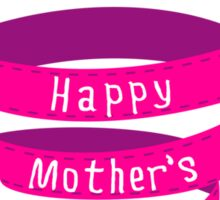 Happy mothers day, pink heart ribbon Sticker