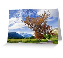 tree and fields Greeting Card