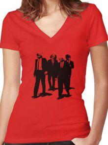 Reservoir Girls Women's Fitted V-Neck T-Shirt