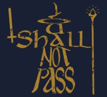 You shall not pass!! One Piece - Short Sleeve