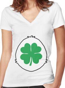 Luck Bear TShirt Women's Fitted V-Neck T-Shirt