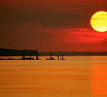 Big Sunset Long Island, New York by LisaThomasPhoto