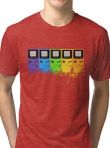 Gameboy Rainbow Tee Tri-blend T-Shirt