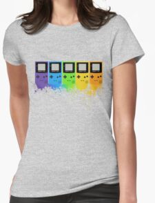 Gameboy Rainbow Tee Womens Fitted T-Shirt