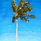 Palm Tree In Wind by Phil Perkins