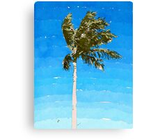 Palm Tree In Wind Canvas Print
