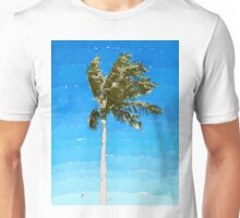 Palm Tree In Wind Unisex T-Shirt
