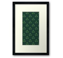 Irish Shamrocks All Over Framed Print