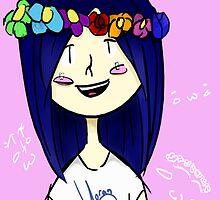 Kawaii Cheeks and Flower Crowns by YoransArt