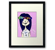 Kawaii Cheeks and Flower Crowns Framed Print