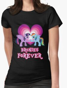 Bronies Forever 3 Womens Fitted T-Shirt
