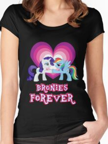 Bronies Forever 4 Women's Fitted Scoop T-Shirt