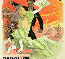 Reproduction of a Poster Advertising the 1896 Carnival at the Theatre de l'Opera by Bridgeman Art Library