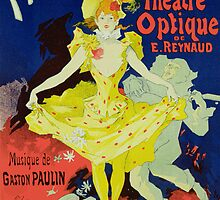 Reproduction of a Poster Advertising 'Pantomimes Lumineuses' at the Musee Grevin by Bridgeman Art Library