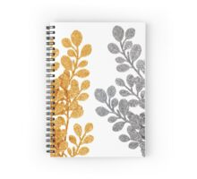 Chistmas decorative golden and silver leaves Spiral Notebook