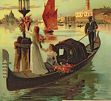 Reproduction of a Poster Advertising the Eastern Railway from Paris to Venice  by Bridgeman Art Library