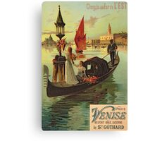 Reproduction of a Poster Advertising the Eastern Railway from Paris to Venice  Canvas Print