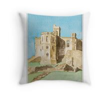 Warkworth Castle, Northumberland Throw Pillow