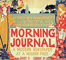 Reproduction of a poster advertising the Morning Journal by Bridgeman Art Library