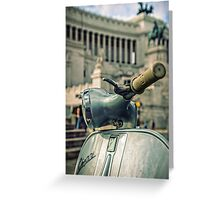 Vespa at the Il Vittoriano monument - Rome, Italy  Greeting Card