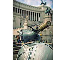 Vespa at the Il Vittoriano monument - Rome, Italy  Photographic Print