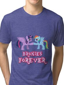 Bronies Forever (No Heart) 3 Tri-blend T-Shirt